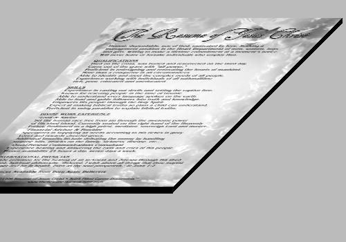The Resume of Jesus Christ Michelle Dawson April